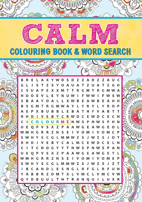Grown Up Colouring & Word Search - Calm
