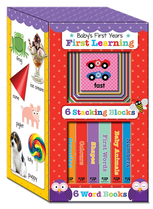 Baby's First Years - First Learning Board Books & Stacking Blocks