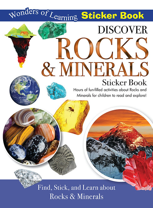 Sticker Book - Discover Rocks and Minerals