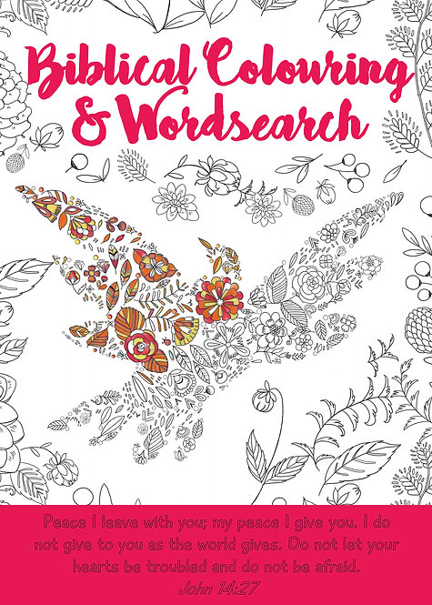 Biblical Colouring and Wordsearch - Dove