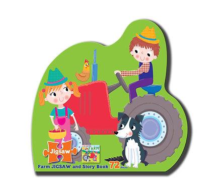 Farm Jigsaw and Story Book