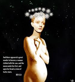 Woman Moon & Stars