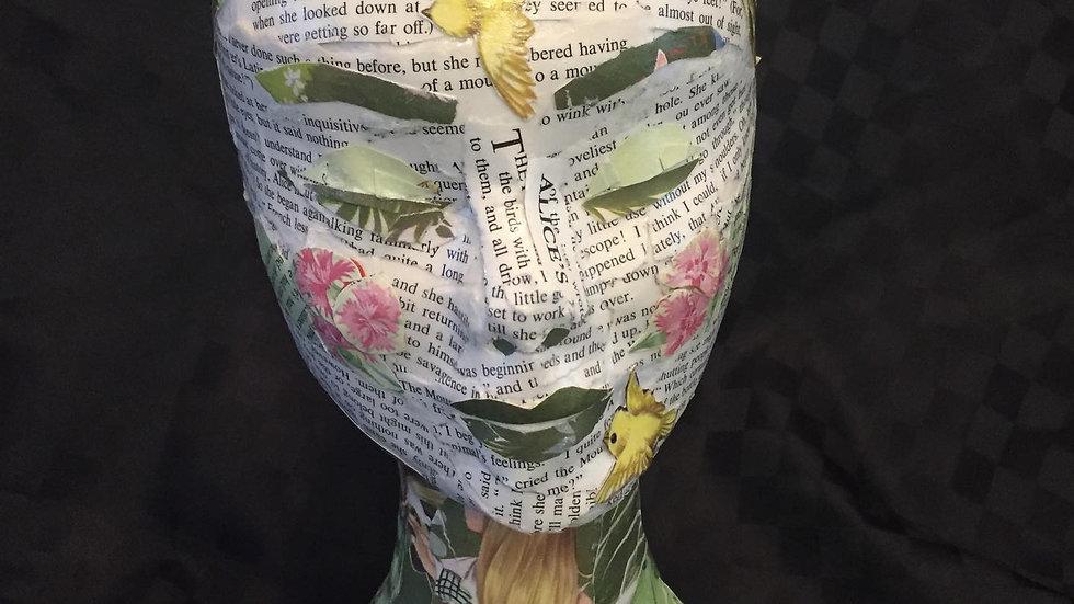 Alice in Wonderland Art: Mixed media 3D sculpture