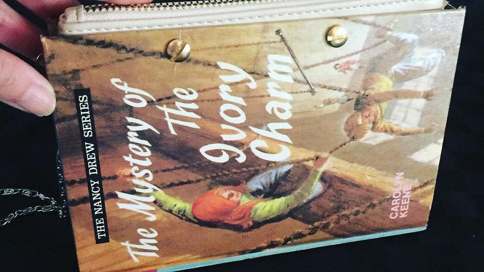 Nancy Drew Ivory charm book clutch