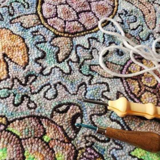 Rug Hooking AND Punch Needle with Yarn
