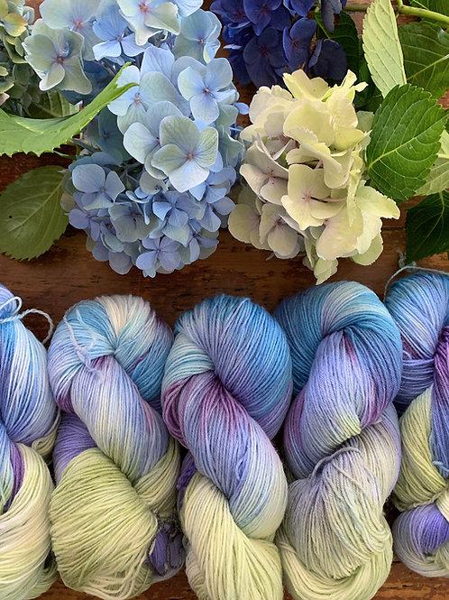 Hydrangea Hand Dyed Yarn