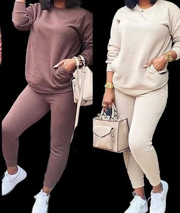 """Boss Mom"" Crew neck Pullover & Sweatpants Set"