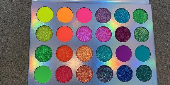 """Butterfly Kisses"" Glow in The Dark Eyeshadow Palette(24 Colors)"
