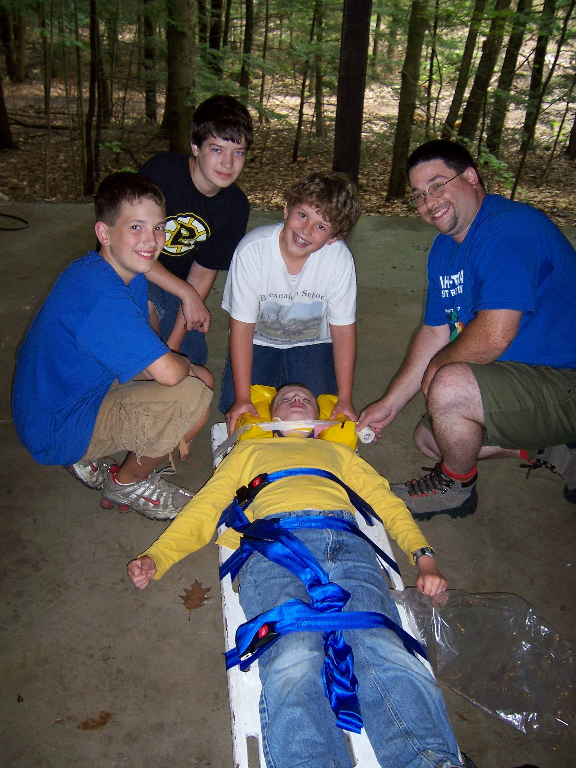 Summer camp first aid