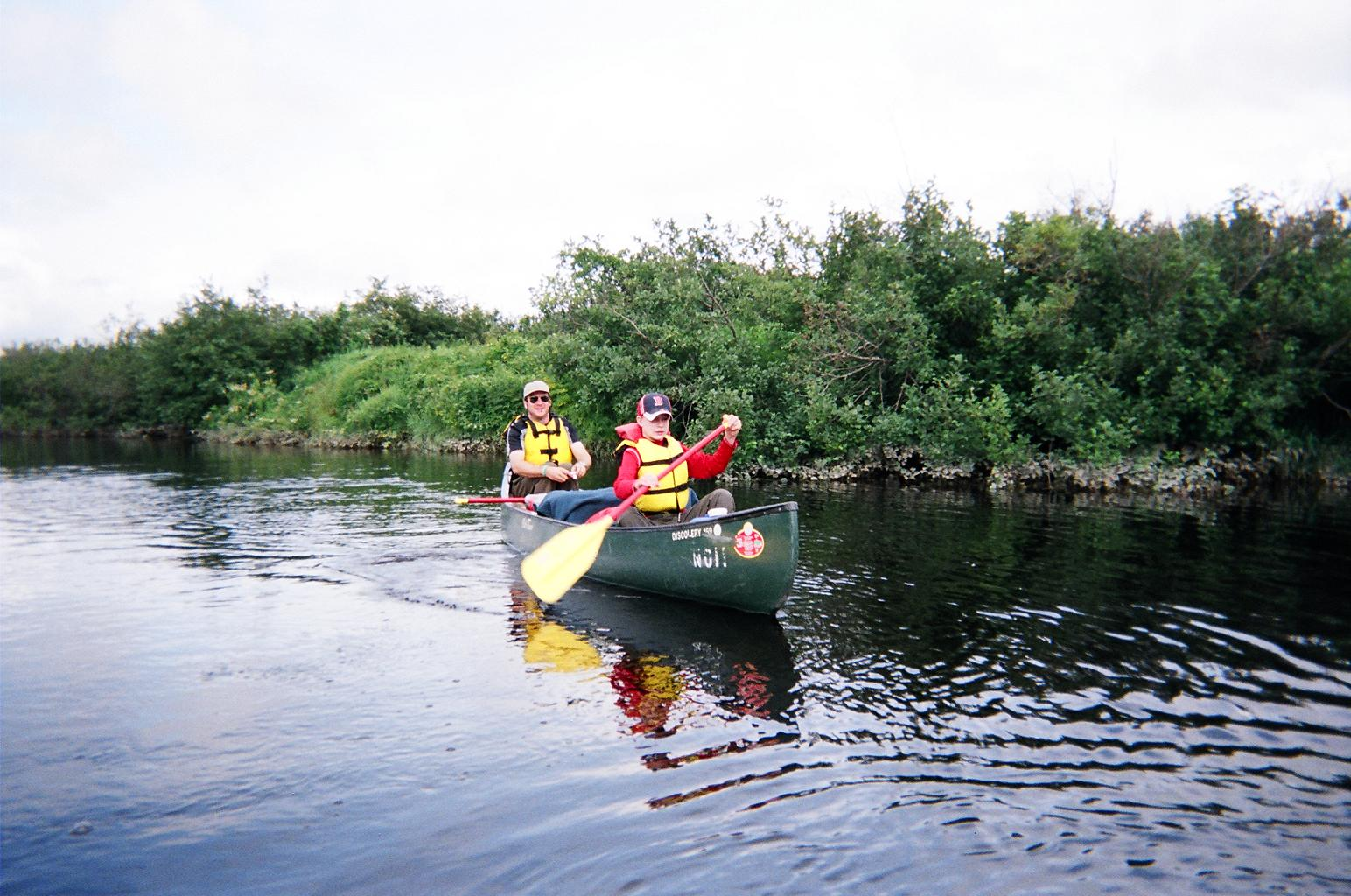 Canoeing on the Moose Bow River