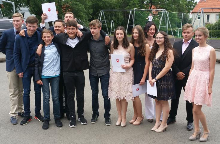 2017_erste Abschlussklasse Immanue Gesamtschule