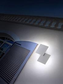 Luminaires appliques extérieurs design led puzzle, lumières extérieures leds