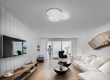 Grand plafonnier led design bugia, lumière pour plafond led design studi italia design lodes.