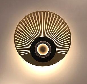Appliques design LED Nantes cvl laiton massif, graphite, cuivre et inox.