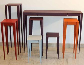 meubles design Nantes, consoles en métal acier sur mesure Nantes, mobilier contemporain design, séries limitées design,pièces uniques,