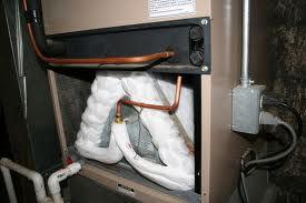 Frozen AC Evaporator A Coil