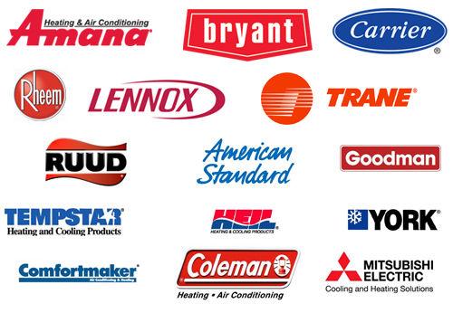 WE Repair all Brands Amana, Bryant, Carrier, Rheem, Lennox, Trane, Ruud, American Standard, Goodman, Tempstar, Heil, York, Comfortmaker, Coleman, Mitsubishi