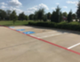 Restriping in Coppell, Texas