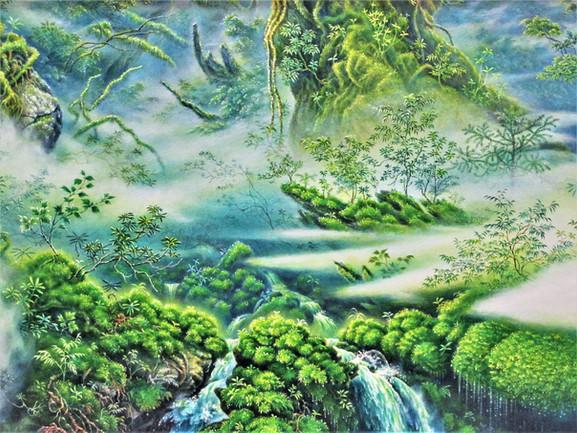 「潤響の森(部分)」