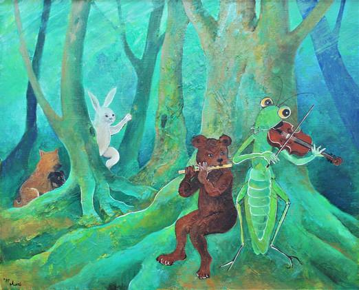 「緑の森の中で(1)」