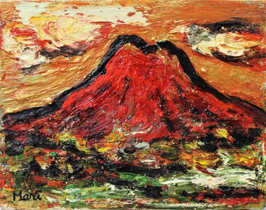 「夕焼けの富士」