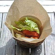 イングリッシュマフィンサンド(ミートローフチーズトマト)