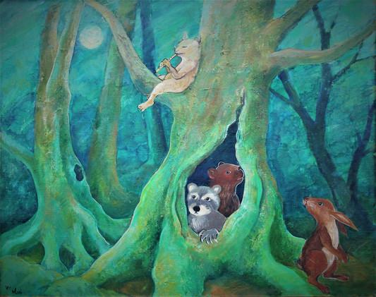 「緑の森の中で(2)」
