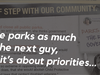 These are my priorities. And sometimes I even work on them in the park...
