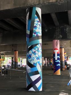 Columns Badalon Spain