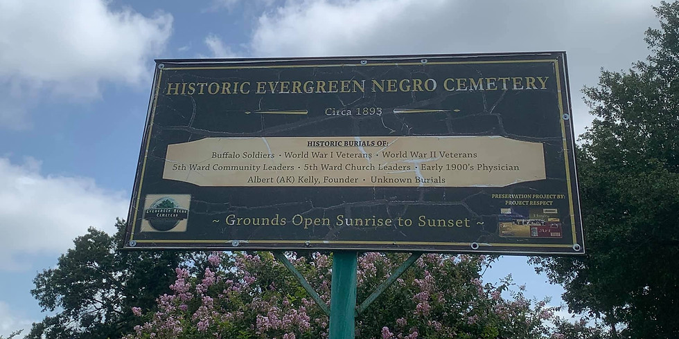 Second part cleanup for the Evergreen Negro Cemetery