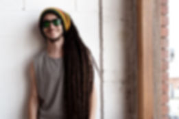 Musician artist portrait headshot Melbourne for reggae band album cover