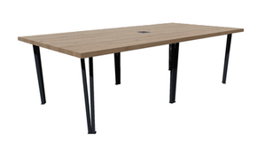 Clayborne Planed Edge Conference Table with Central Support and Power/Data
