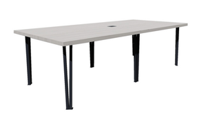 Clayborne Live Edge Conference Table with Central Support and Power/Data