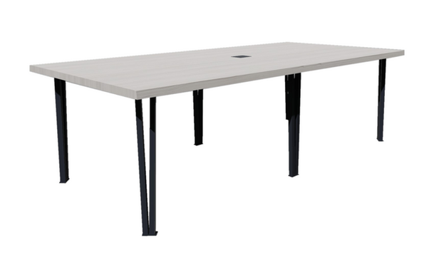 Clayborne Live Edge Conference Table w/ Central Support and Power/Data