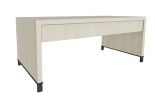 Desk with 1/3 Modesty