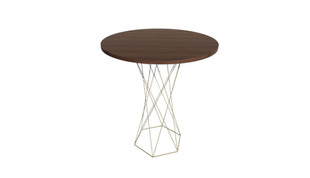 Clayborne Wire Base Standing Height Round Meeting Table
