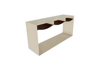Hughes Bent Steel Console Table