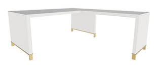 Clayborne Desk with Return, No Modesty Panel and Open Support