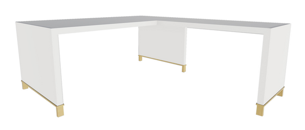 Clayborne Desk w/ Return, No Modesty Panel and Open Support