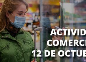 Actividad comercial durante el 12 de octubre