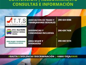 Teléfonos de contacto de ATTS y de DYCI