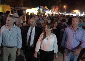 Vazzana acompañó a Soria y Odarda en la visita a la fiesta de la Vendimia