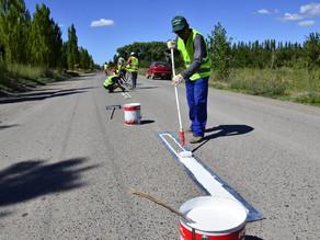Para brindar mayor seguridad vial, se realizan trabajos de pintura en la General Paz