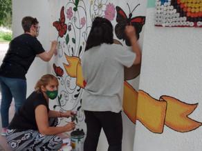Mural alusivo al 'Día Internacional de la Eliminación de la Violencia contra la Mujer
