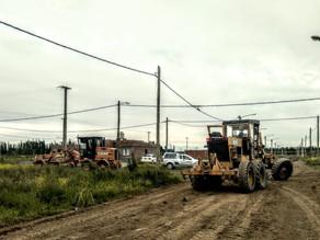 Trabajos en calles del barrio ARA San Juan