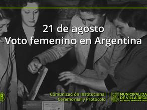 Celebramos la incorporación formal de las mujeres argentinas en el ámbito político