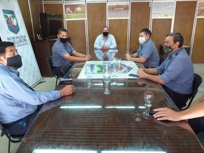 Orazi se reunió con la Policía local