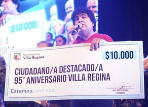 Adrián Maidana se llevó  la distinción al Ciudadano Destacado de Regina