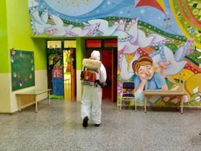 Desinfección en los Centros de Desarrollo Infantil