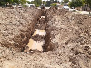 Viales II: se trabaja en la construcción de la red cloacal profunda